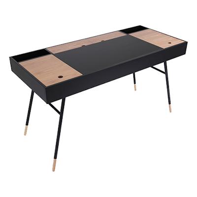 Norse Study Table - Black Ash, Oak - Image 1
