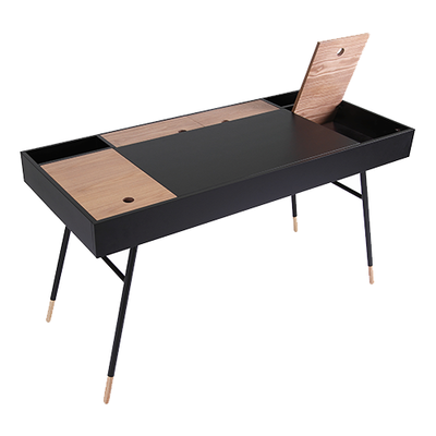 Norse Study Table - Black Ash, Oak - Image 2