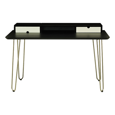 Ingrid Study Table - Black Ash, White - Image 1