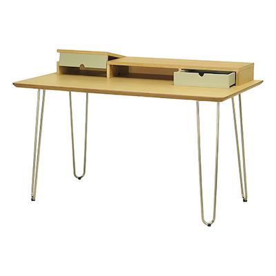 Ingrid Study Table - Black Ash, White - Image 2