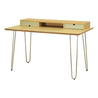 Ingrid Study Table - Oak, Dust Green - Image 1