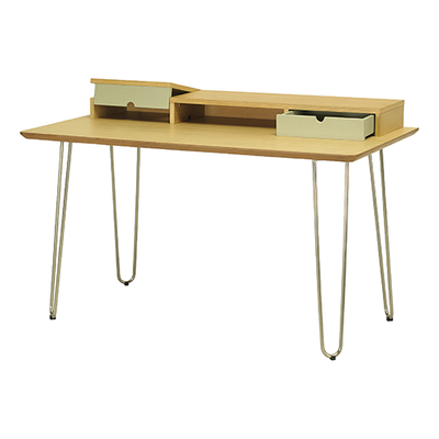 Ingrid Study Table - Oak, Dust Green - Image 2
