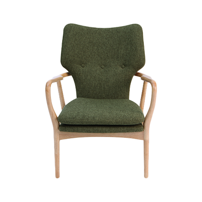 Stacy Lounge Chair - Ruby, Walnut - Image 2