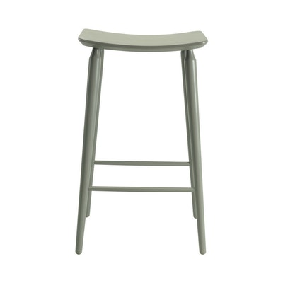 Lester Bar Stool - Charcoal Grey Lacquered - Image 2