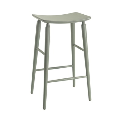 Lester Bar Stool - Grey Lacquered - Image 1