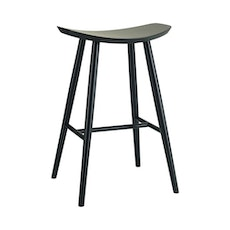 Philly Bar Stool - Black Ash Veneer - Image 1