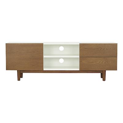 Potter TV Cabinet - Cocoa, White, Cocoa - Image 1