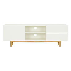 Potter TV Cabinet - Natural, White - Image 1