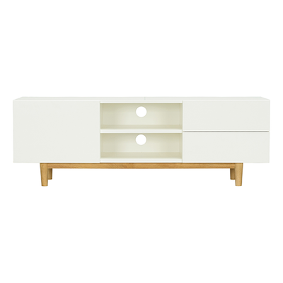 Potter TV Cabinet - Natural, White - Image 1
