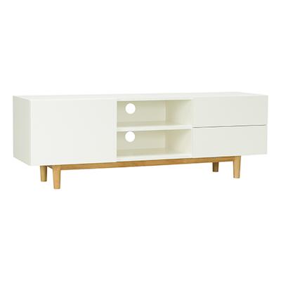 Potter TV Cabinet - Natural, White - Image 2