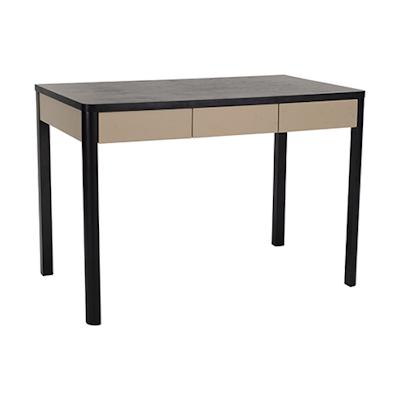 Mabon Working Desk - Black Ash, Taupe Grey - Image 1