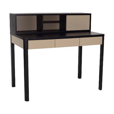 Mabon Working Desk - Black Ash, Taupe Grey - Image 2