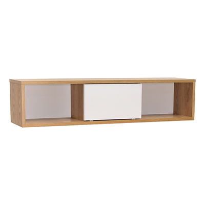 Mabon Wall Storage Unit - Natural, White - Image 1
