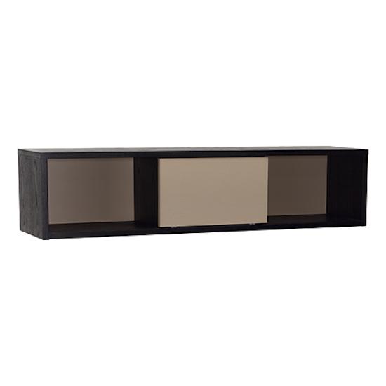 Shape - Mabon Wall Storage Unit 1.1m - Black, Taupe Grey