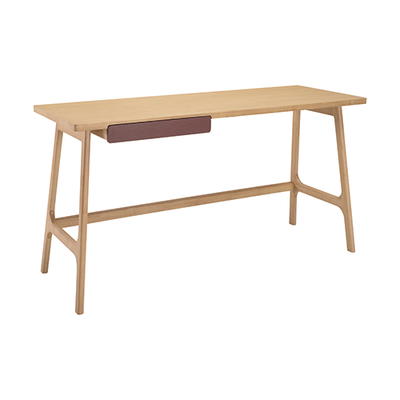Morey Working Desk - Natural, Penny Brown - Image 1