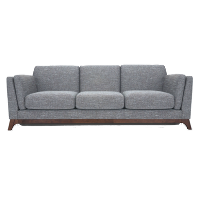 Elijah 3 Seater Sofa - Cocoa, Pebble - Image 1