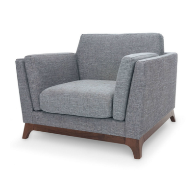Elijah Single Seater Sofa - Cocoa, Pebble - Image 2