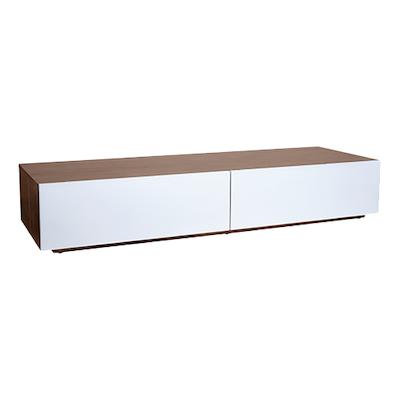 Vito 1.5M Base Cabinet - Walnut, White - Image 1