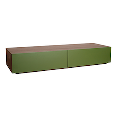 Vito 1.5M Base Cabinet - Walnut, Green - Image 1