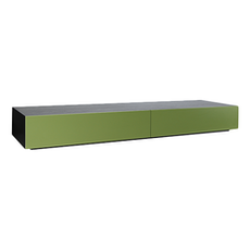 Vito 2M Base Cabinet - Black Ash, Green - Image 1