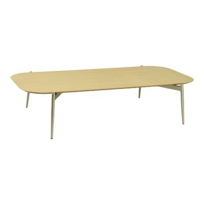 Nova Low Coffee Table - Oak, Matt Silver - Image 1