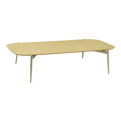 Nova Low Coffee Table - Oak, Matt Silver - Image 1