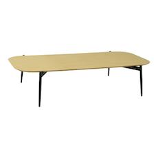 Nova Low Coffee Table - Oak, Matt Black - Image 1