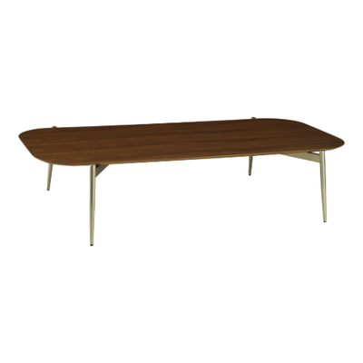 Nova Low Coffee Table - Walnut, Matt Silver - Image 1
