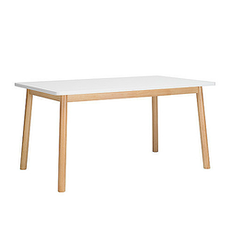 Kendall 6 Seater Dining Table - Natural, White - Image 1