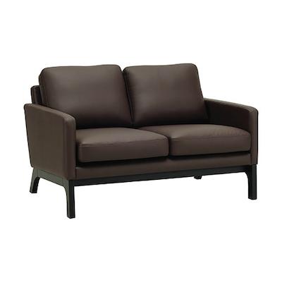 Cove Twin Seater Sofa - Black, Mocha - Image 1