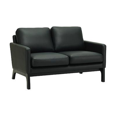 Cove Twin Seater Sofa - Black, Espresso - Image 1