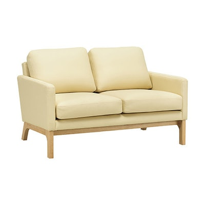 Cove Loveseat - Natural, Cream - Image 1