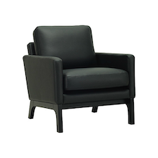 Cove Single Seater Sofa - Black, Espresso - Image 1