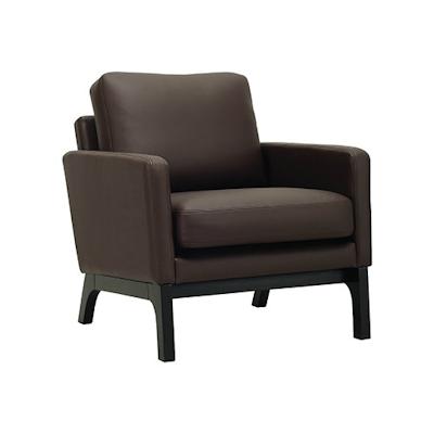 Cove Single Seater Sofa - Black, Mocha - Image 1