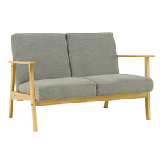 Telford Twin Seater Sofa - Natural, Dolphin - Image 1