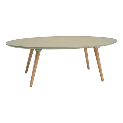 Carsyn Oval Coffee Table - Taupe Grey - Image 1