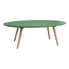Carsyn Oval Coffee Table - Pickle Green - Image 1