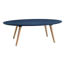 Carsyn Oval Coffee Table - Marine Blue - Image 1