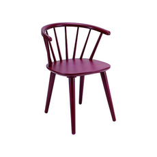 Caley Dining Chair - Maroon (Set of 2) - Image 1