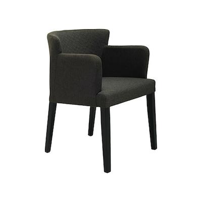 Rhoda Arm Chair - Black, Mud (Set of 2) - Image 1