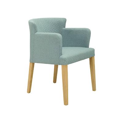 Rhoda Arm Chair - Natural, Aquamarine (Set of 2) - Image 1
