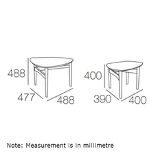 Phila Occasional Table Set - Oak - Image 2
