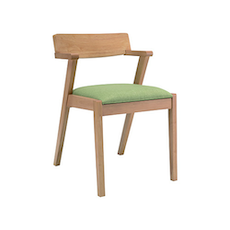 Zola Dining Chair - Natural, Spring Green (Set of 2) - Image 1