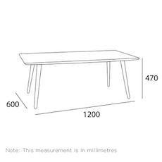Carsyn Rectangular Coffee Table - Cocoa - Image 2