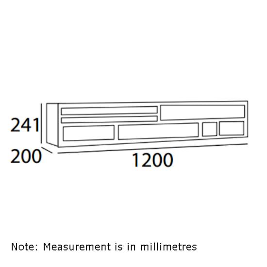 Shape - Ezra Wall Storage Unit 1.2m - Black Ash