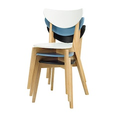 Naida Dining Chair - Natural, White, Oasis (Set of 2) - Image 2