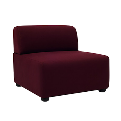 Aston 1 Seater Sofa - Ruby - Image 1