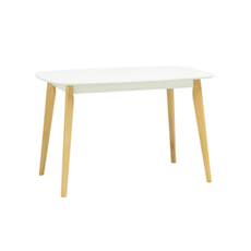 Harold 6 Seater Dining Table - Natural, White - Image 2