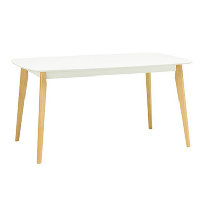 Harold Dining Table 1.5m - Natural, White Lacquered - Image 1
