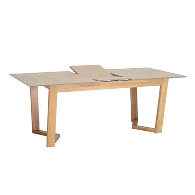 Vitas 6 Seater Extension Table - Natural, Taupe Grey - Image 1